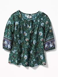 Floral Boho Swing Top for Girls