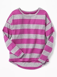 Relaxed Hi-Lo Scoop-Neck Tee for Girls