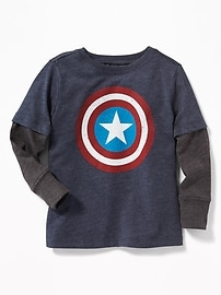 Marvel Comics&#153 Captain America 2-in-1 Tee for Toddler Boys