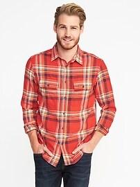 Chemise en flanelle avec extensibilité intégrée Max, coupe standard pour homme