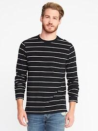 T-shirt à rayures nautiques pour homme