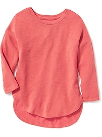 Relaxed Sparkle-Knit Top for Girls