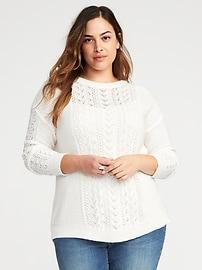 Chandail décontracté en tricot torsadé, taille Plus