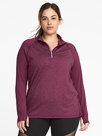 Plus-Size 1/4-Zip Performance Pullover