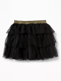 Sparkle-Waist Tutu Skirt for Toddler Girls