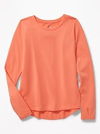 Relaxed Performance Crew-Neck Tee for Girls
