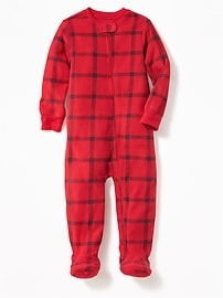 Plaid Perfromance Fleece Sleeper for Toddler & Baby