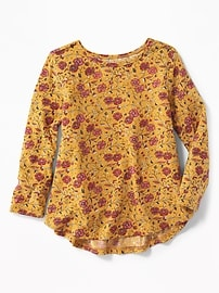 Floral Jersey Swing Top for Toddler Girls