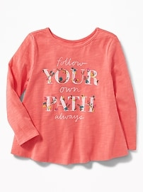 Graphic Swing Top for Toddler Girls