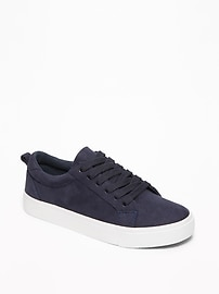 Sueded Lace-Up Sneakers for Boys