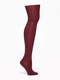 Cable-Knit Tights for Women