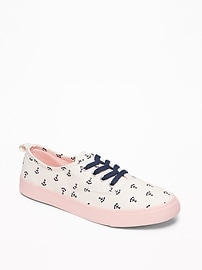 Printed Lace-Up Sneakers for Girls