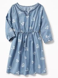 Robe en TencelMD ornée de broderies pour fille