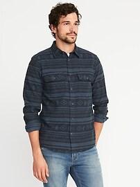 Chemise en flanelle avec extensibilité intégrée, coupe standard pour homme