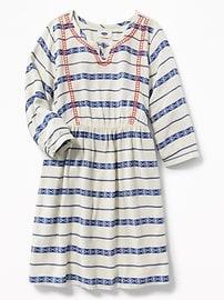 Robe de style bohémien avec empiècement brodé pour fille