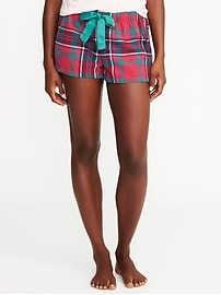 "Patterned Flannel Boxers for Women (2 1/2"")"