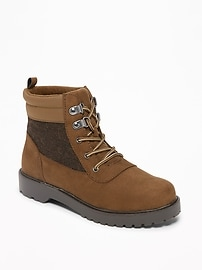 Sueded Hiking Boots for Boys