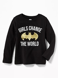 "DC Comics&#153 Batgirl ""Girls Change the World"" Tee for Toddler Girls"