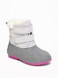 Bottes de neige scintillantes pour toute-petite fille