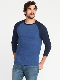 Soft-Washed Slub-Knit Raglan Tee for Men