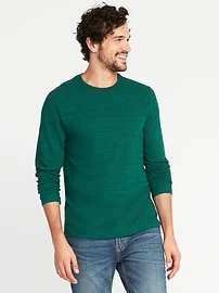 Soft-Washed Slub-Knit Tee for Men