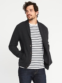 Shawl-Collar Button-Front Cardigan for Men