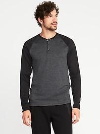 Go-Warm Thermal-Knit Henley for Men