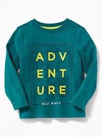 T-shirt en tricot grège imprimé à logo pour tout-petit garçon