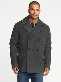 Manteau matelot en mélange de laine pour homme
