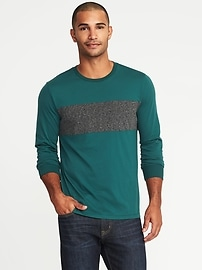 Soft-Washed Color-Block Tee for Men