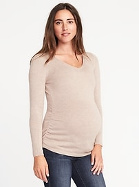 Maternity Fitted V-Neck Sweater