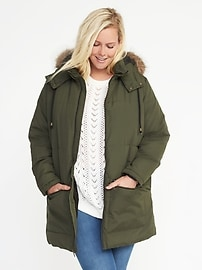 Plus-Size Hooded Frost-Free Parka