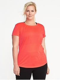Plus-Size Go-Dry Cool Mesh Tee