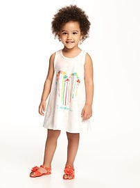 Graphic Scoop-Neck Tank Dress for Toddler