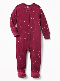 Star-Print Performance Fleece Footed Sleeper for Toddler Girls