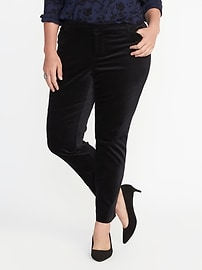 Smooth & Slim Plus-Size Velvet Pixie Pants
