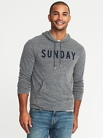 """""""Sunday"""" Terry-Velour Pullover Hoodie for Men"""