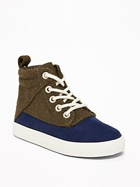 Color-Block High-Tops for Toddler Boys