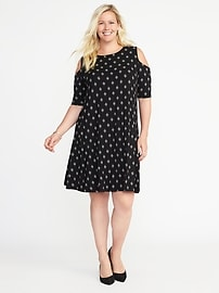 Plus-Size Cold-Shoulder Dress