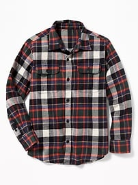 Patterned Built-In Flex Flannel Shirt for Boys