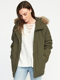 Hooded Frost-Free Utility Parka for Women