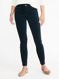 Mid-Rise Velvet Rockstar Pants for Women