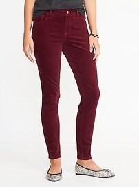 Pantalon Rockstar en velours à taille mi-haute pour femme