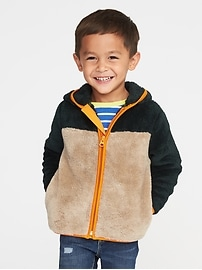 Color-Blocked Micro Fleece Full-Zip Jacket for Toddler Boys