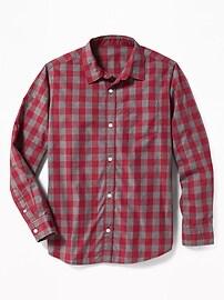 Chemise à carreaux classique pour garçon