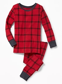 2-Piece Plaid Sleep Set for Toddler & Baby