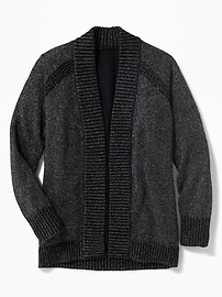 Sparkle Open-Front Cocoon Cardi for Girls