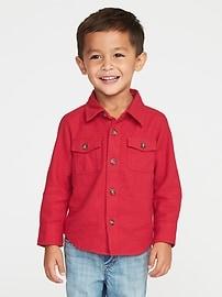 Chemise en flanelle à deux poches pour tout-petit garçon