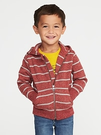 Sweater-Knit Fleece Hoodie for Toddler Boys
