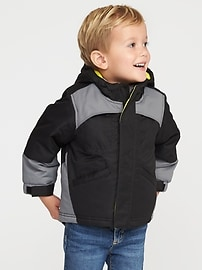 3-in-1 Hooded Snow Jacket for Toddler Boys